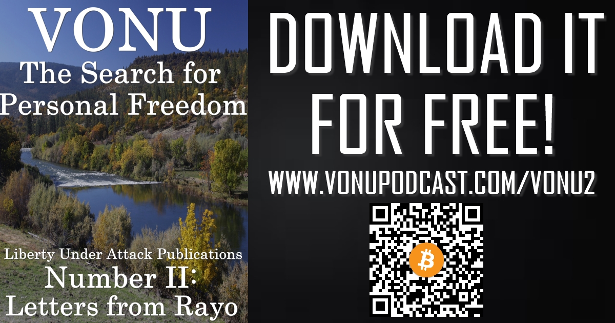 Vonu: The Search for Personal Freedom, Number 2 — Letters from Rayo