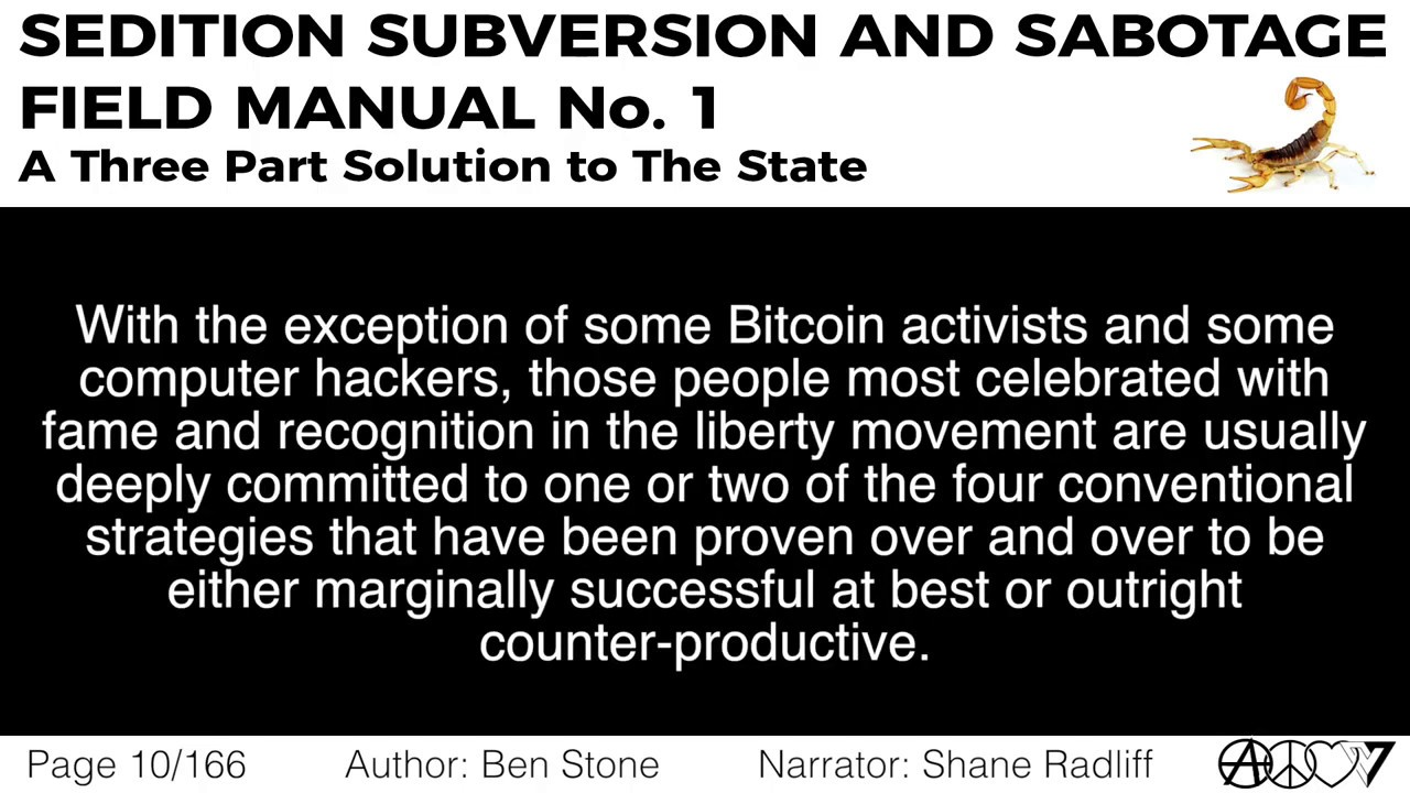 [FREE AUDIOBOOK] Sedition, Subversion, and Sabotage by Ben Stone, Now on LBRY